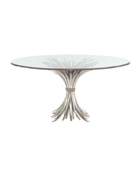 Bernhardt Gwinn Glass-Top Dining Table
