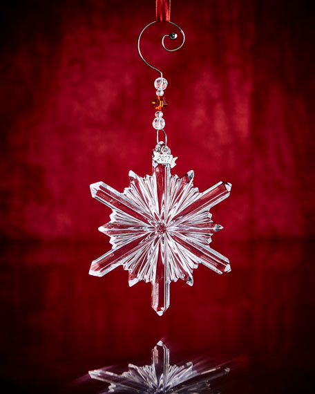 Waterford Crystal Annual Snowstar Ornament