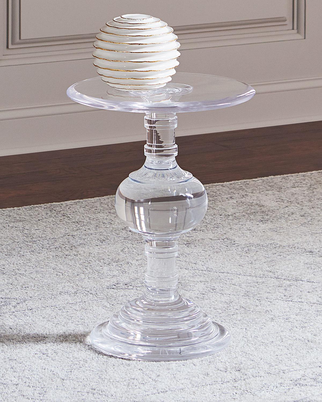 Bernhardt Andrea Acrylic Side Table   Neiman Marcus