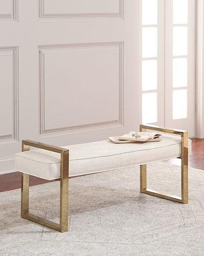 Nia Brass Framed Bench