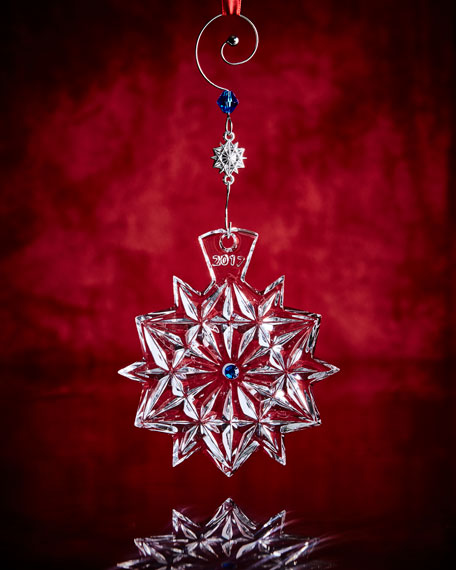 Waterford Crystal 2017 Snowflake Wishes Friendship Ornament