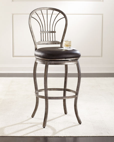 Miriam Leather Counter Stool