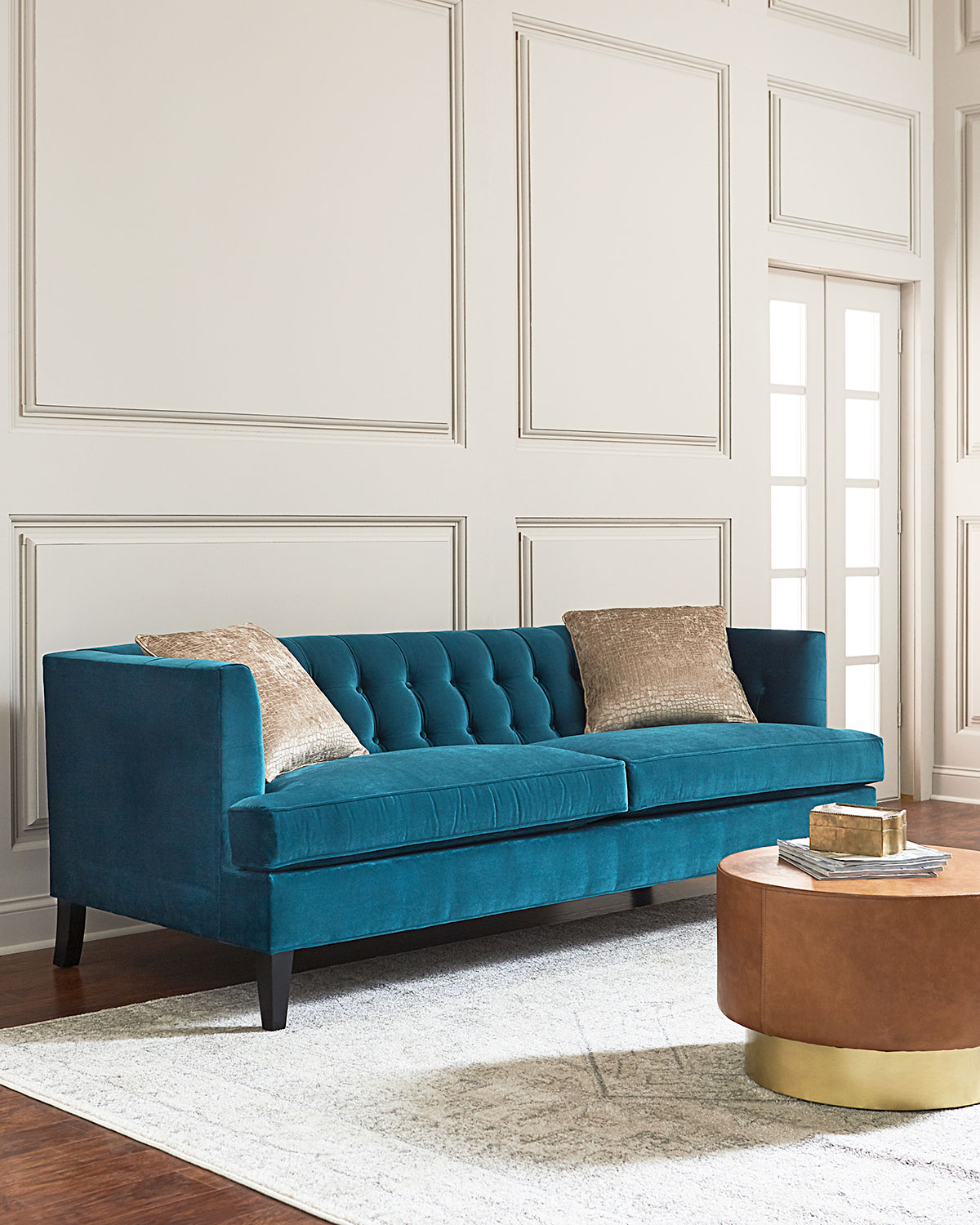 Hadley tufted back sofa 84