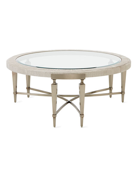 Damonica White Oak Round Coffee Table