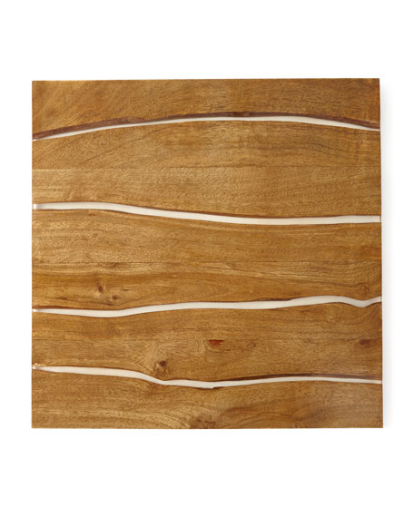 Square Fragment Wood Placemat