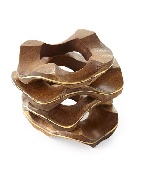 Kim Seybert Pavilion Wooden Napkin Ring