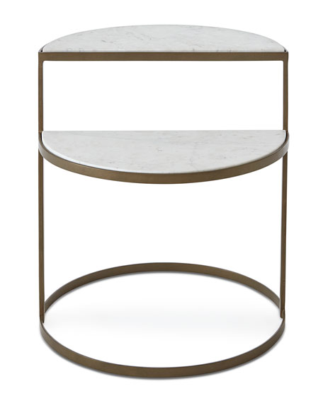 Kim Marble Shelf Night Stand
