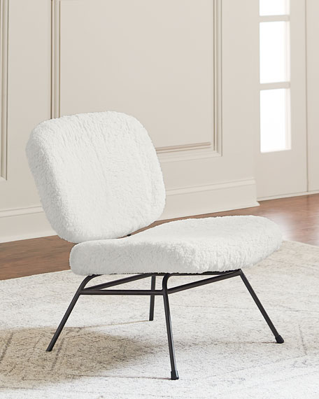 Astor Faux Fur Accent Chair Neiman Marcus