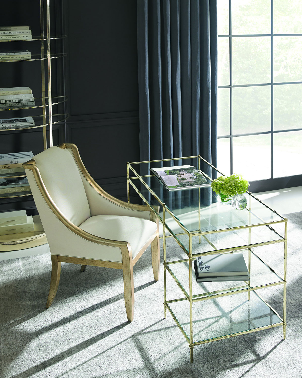 caracole whisper of gold glass writing desk neiman marcus rh neimanmarcus com glass writing desk canada glass writing desk canada