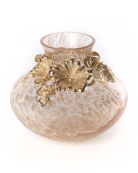 Leaf & Flower Gilded Vase
