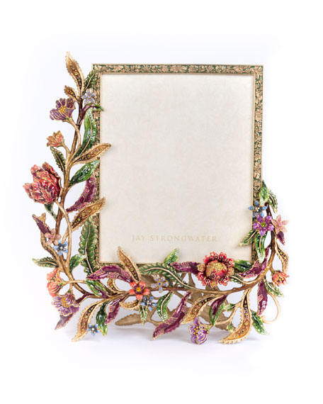 Jay Strongwater Regina Floral & Vine Picture Frame,