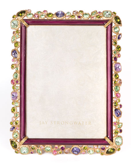 Jay Strongwater Leslie Bejeweled Picture Frame, 5