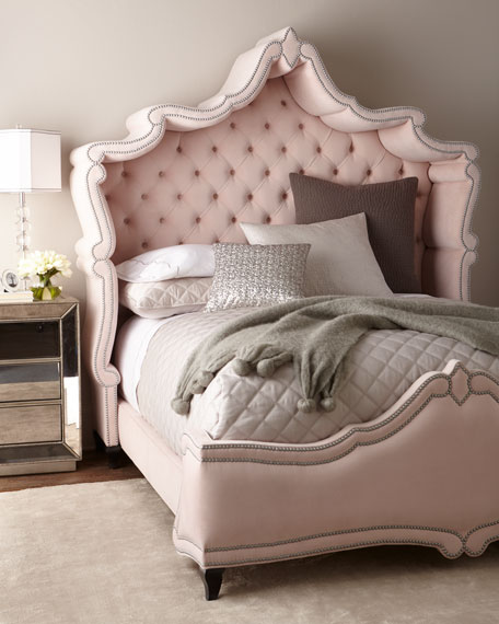 Haute House Queen Blush Antoinette Bed and Matching