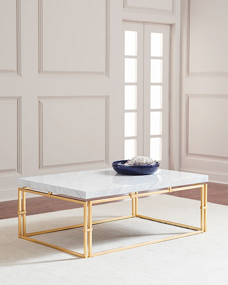 Marble Coffee Table Online: John-Richard Collection Calabria Marble-Top Coffee Table