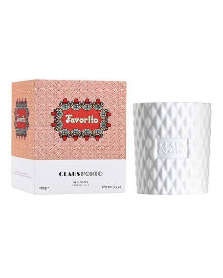 Claus Porto Favorito Candle, 9.5 oz.