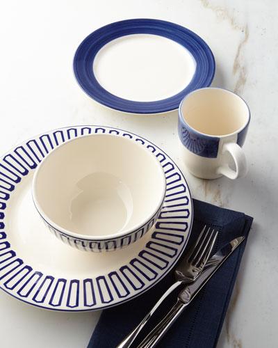 16piece blue dinnerware service