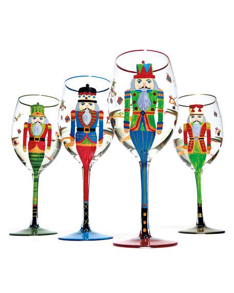 Nutcracker Glasses, Set of 4