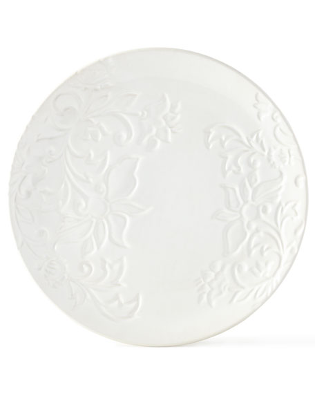 G G Collection Etched Floral Plates, Set of
