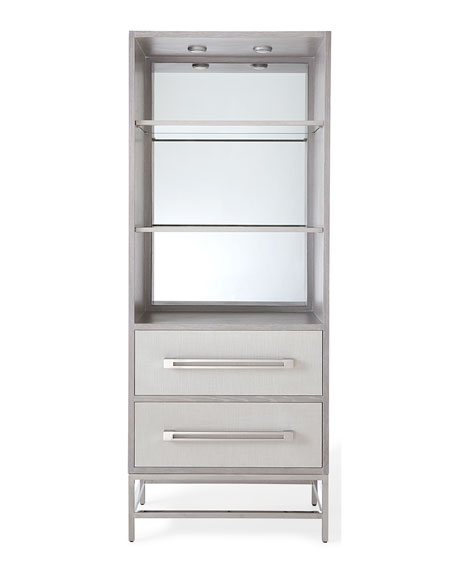Zada Tall Stainless Steel Cabinet