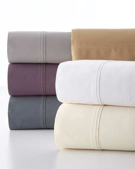 Charisma Standard Luxe Solid 510 Thread Count Pillowcases,