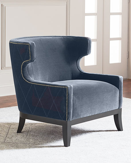 Bernhardt Lennox Diamond Tufted Accent Chair