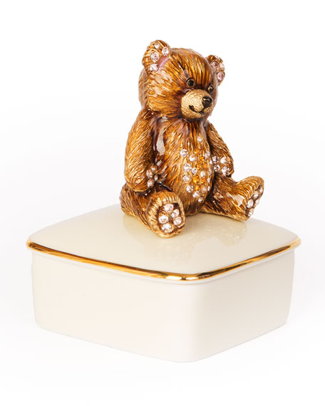 Jay Strongwater Teddy Bear Porcelain Box