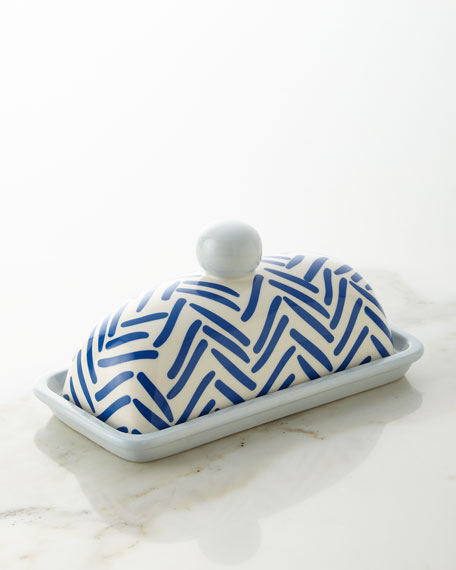 Herringbone Domed Butter Dish