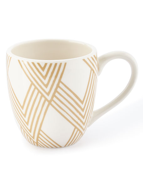 Coton Colors Woven Cobble Mugs, Set of 4