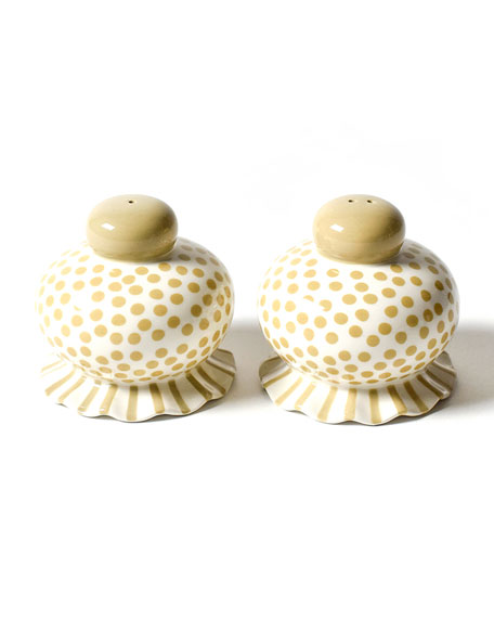 Coton Colors Small-Dot Ruffle Salt & Pepper Shaker