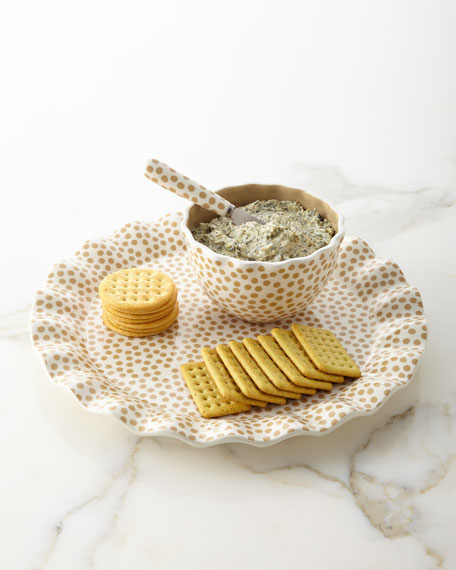 Cobble Small-Dot Ruffle Serving Set