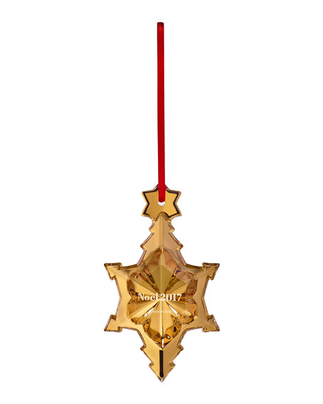 2017 Annual Noel Crystal Ornament, Gold