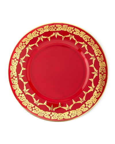 Red Oro Bello Charger, Set of 4