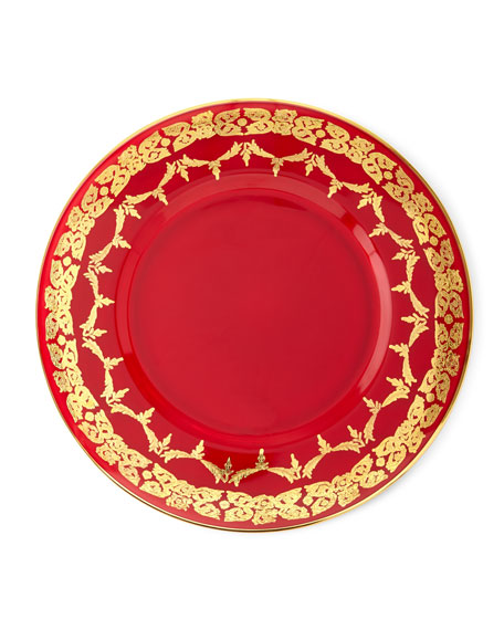 Exclusive Charger Gold-Finish Dinner Plates, Set of 4