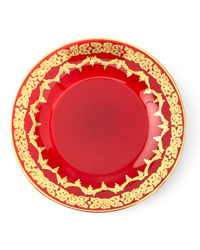 Red Oro Bello Dessert Plate, Set of 4