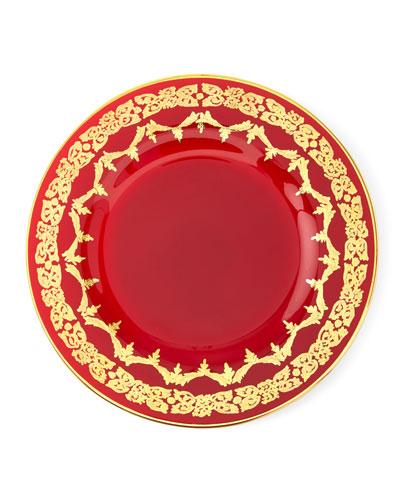 Red Oro Bello Dinner Plate, Set of 4