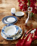 Image 2 of 2: 12-Piece Blue Marble Dinnerware Service