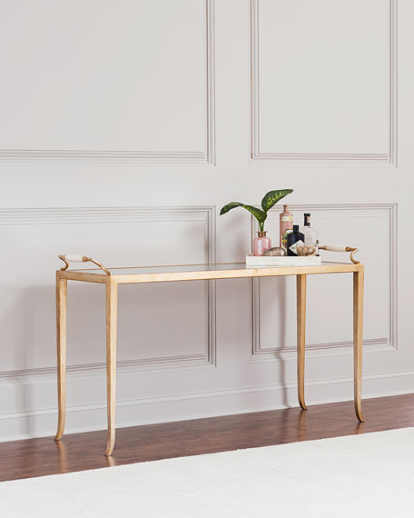 John-Richard Collection Lally Eglomise Console Table
