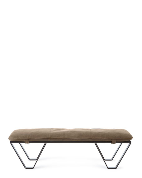 Sumpter Leather Bench