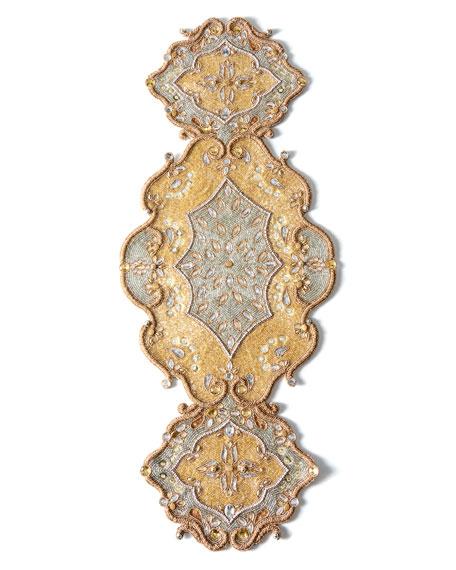Metallic Baroque Table Runner