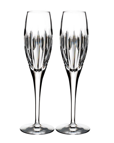 mara crystal champagne flutes set of two - Crystal Champagne Flutes