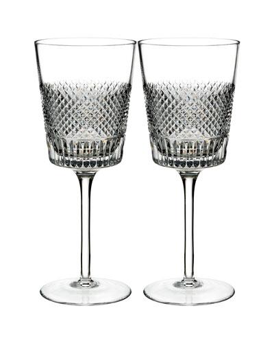 Diamond Line Wine Glasses, Set of Two