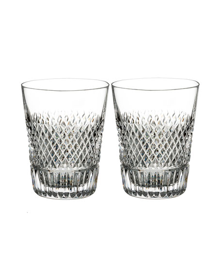 Diamond Line Shot Glasses, Set of Two