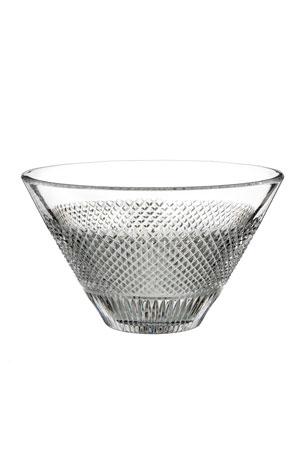 "Waterford Crystal Diamond Line Crystal Bowl - 8"""