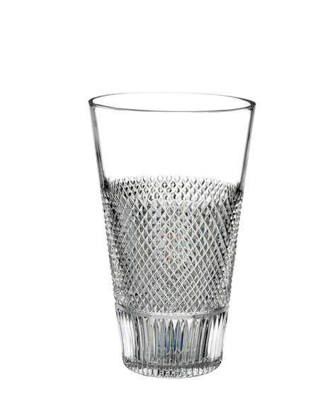 Diamond Line Crystal Vase - 8""