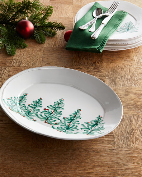 Lastra Holiday Small Oval Platter