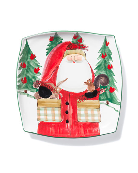 Vietri Limited Edition Old Saint Nick Square Platter