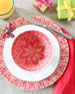 Viva Red Lace Dinner Plate
