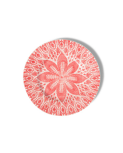 Viva Red Lace Dinner Plates, Set of 4