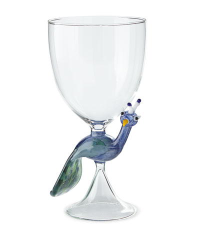 Peacock Stem Glass