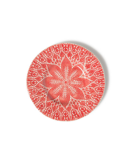 Viva Red Lace Salad Plate
